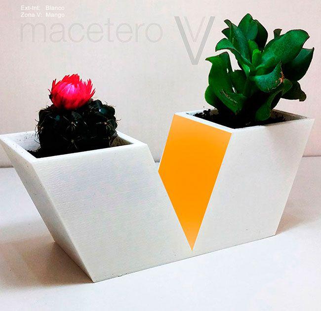 Macetero-DE3DE-Decoración-Impresion3D-moderno-diseño-#impresión3D-#design-#impresion3d-#3dprinting-#deco-#3d