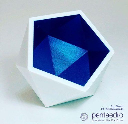 Macetero-florero-pentaedro-DE3DE-Decoración-Impresion3D-moderno-diseño-#impresión3D-#design-#impresion3d-#3dprinting-#deco-#3d