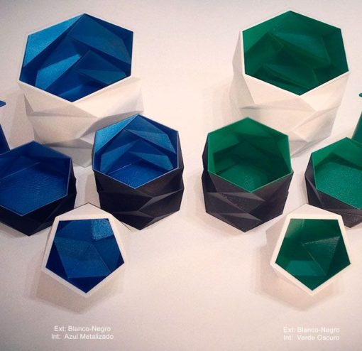 Jarrón-macetero-lapicero-poliedro-Decoración-Impresion3D-moderno-diseño-#impresión3D-#design-#impresion3d-#3dprinting-#deco-#3d