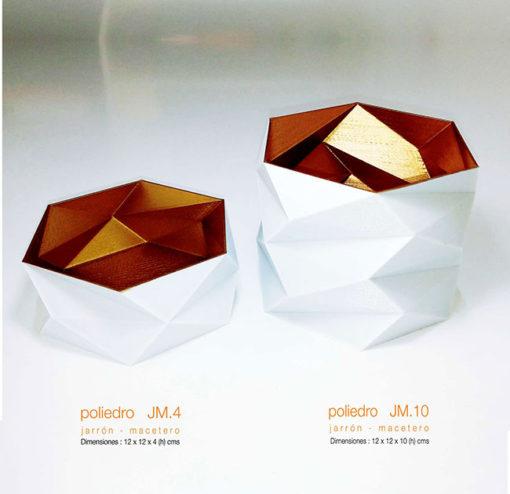 Jarrón-macetero-lapicero-poliedro-DE3DE-Decoración-Impresion3D-moderno-diseño-#impresión3D-#design-#impresion3d-#3dprinting-#deco-#3d