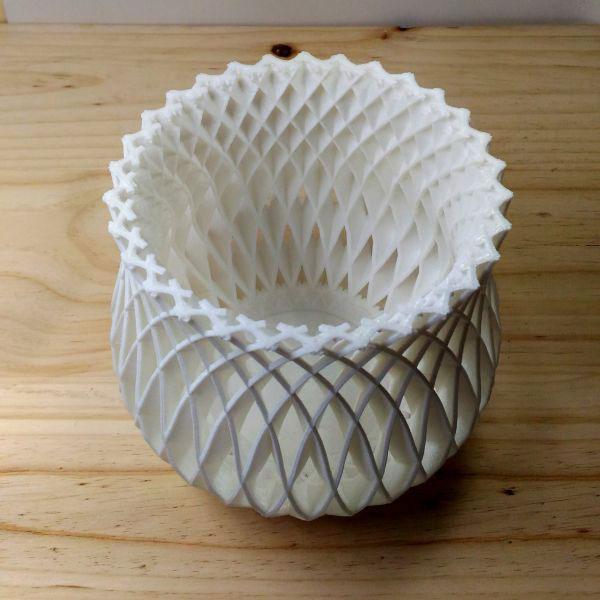 Jarrón-panier-DE3DE- Decoración-Impresion3D-moderno-diseño-#impresión3D-#design-#impresion3d-#3dprinting-#deco-#3d
